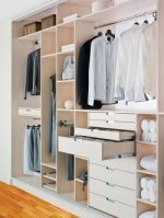 Szafa w garderobie